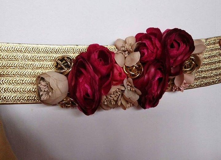 Lamatte cinturon Rosas